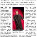 Pressebericht Kleine Zeitung Kritik